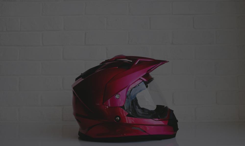 Clean Motorcycle Helmet