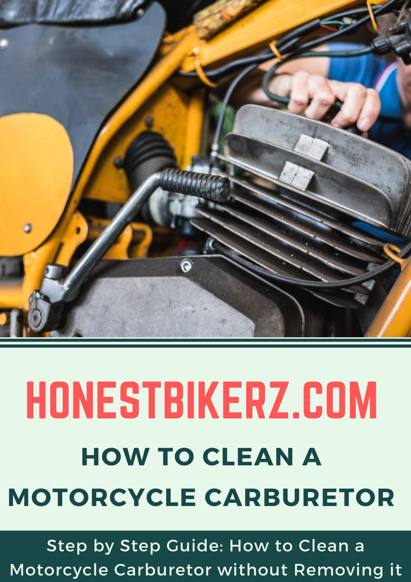 How to clean a motorcycle carburetor without removing it