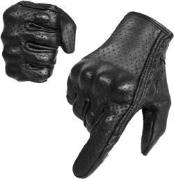 Full finger Goatskin Leather Touch Screen Motorcycle Gloves Men Women