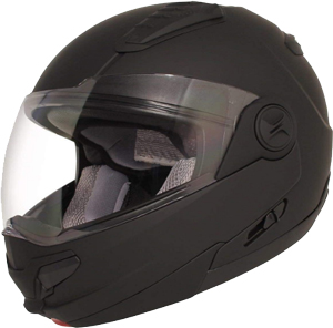 HAWK Helmets ST 1198 Matte Black Modular Motorcycle Full Face Helmet