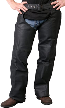 Hot Leathers Fully Lined Leather Chaps