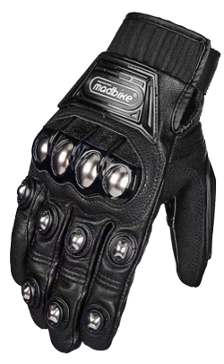 ILM Alloy Steel Leather Hard Knuckle Touchscreen Motorbike Powersports Racing Gloves