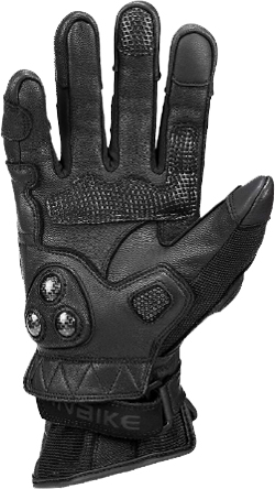 INBIKE Leather Motorcycle Gloves with Carbon Fiber Hard Knuckle Touch Screen for Women
