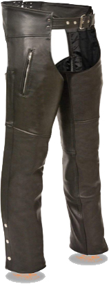 Milwaukee Leather SH1190 Men's Black Leather Chaps
