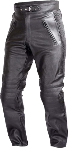 WICKED STOCK Mens Motorcycle Black Leather Pants