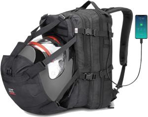 Kemimoto Motorcycle Large Capacity Waterproof Backpack with helmet holder