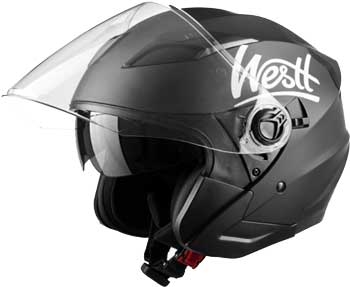Westt-Rover-Open-Face-Moped-Helmet-Retro-Style-for-Motorcycle-Scooter-(ECE-Certified-Jet-Black)