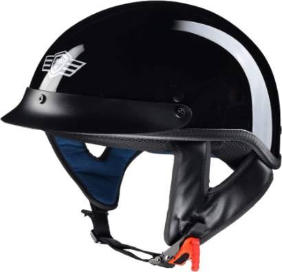 AHR Half Face Cruiser Motorcycle Helmet