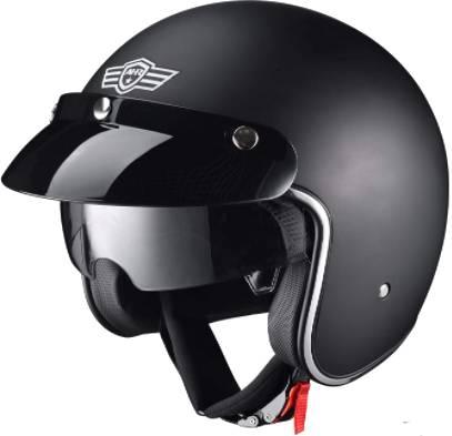 AHR run-O retro open face motorcycle helmet