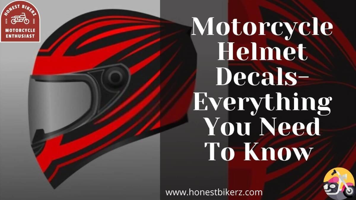 Motorcycle Helmet Decals