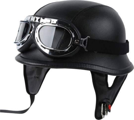 TCT-MT Motorcycle Adult German Leather Half Face Helmet