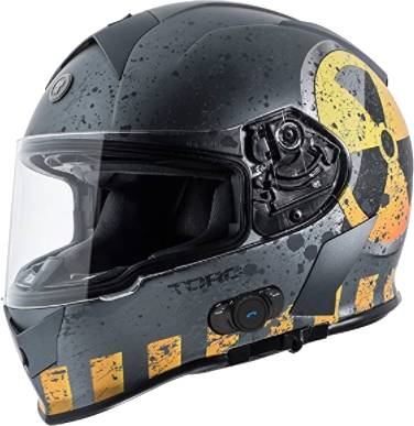 Torc T14b Bluetooth Integrated Mako Full Face Helmet